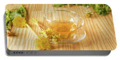 Portable Battery Charger featuring the photograph Taraxacum Tisane by Traven Milovich
