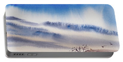 Portable Battery Charger featuring the painting Tasmanian Skies Never Cease To Amaze And Delight. by Dorothy Darden