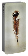 Tattered Turkey Feather Portable Battery Charger
