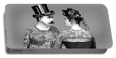 Tattooed Victorian Lovers Portable Battery Charger