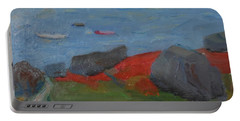 Portable Battery Charger featuring the painting Taunton Bay by Francine Frank