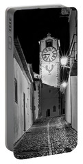 Tavira Church Bell Tower At Night - Portugal Portable Battery Charger