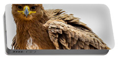 Tawny Eagle Close Up Portable Battery Charger