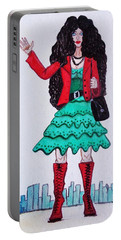 Fashionist Hailing A Taxi Portable Battery Charger