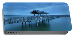 Taylor Dock Boardwalk At Blue Hour Portable Battery Charger