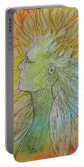 Portable Battery Charger featuring the drawing Te-fiti by Marat Essex
