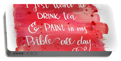 Tea And Paint Portable Battery Charger