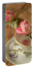 Tea And Roses Portable Battery Charger