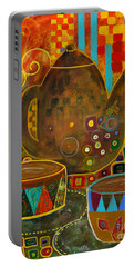 Tea Party With Klimt Portable Battery Charger