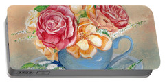 Tea Roses Portable Battery Charger