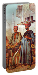 Portable Battery Charger featuring the photograph Tea Seller by Munir Alawi