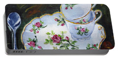 Tea Set Portable Battery Charger by Alexandra Maria Ethlyn Cheshire