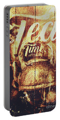 Tea Time Tin Sign Portable Battery Charger
