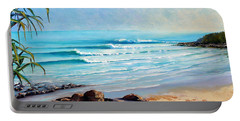 Portable Battery Charger featuring the painting Tea Tree Bay Noosa Heads Australia by Chris Hobel
