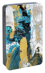 Portable Battery Charger featuring the painting Teal Abstract by Christina Rollo