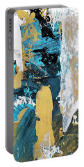 Teal Abstract Portable Battery Charger