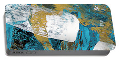 Teal Blue Abstract Painting Portable Battery Charger