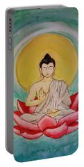 Teal Buddha Meditation Portable Battery Charger