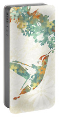Floral Hummingbird Art Portable Battery Charger