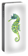 Teal Green Seahorse Portable Battery Charger