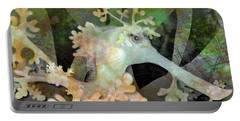 Teal Leafy Sea Dragon Portable Battery Charger