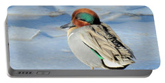 Teal On The Rocks Portable Battery Charger