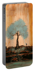 Teal Turquoise Tree Portable Battery Charger
