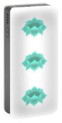 Portable Battery Charger featuring the digital art Teal Lotus by Elizabeth Lock