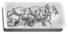 Portable Battery Charger featuring the digital art Team Work by Brad Allen Fine Art