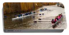 Teams Of Rowers On River Cam Portable Battery Charger