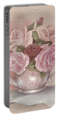 Teapot Roses Portable Battery Charger