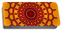 Teardrop Fractal Mandala Portable Battery Charger