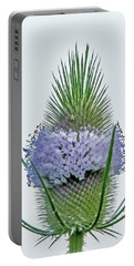 Teasel On White Portable Battery Charger