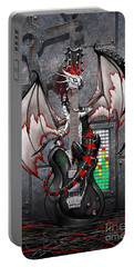 Tech-n-dustrial Music Dragon Portable Battery Charger by Stanley Morrison
