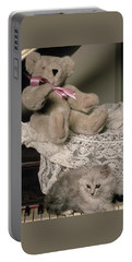 Teddy Bear And Ccat Portable Battery Charger