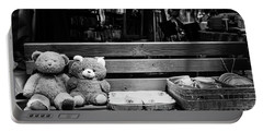 Teddy Bear Lovers On The Bench Portable Battery Charger