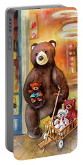 Teddy Bear Day Out In Sweden Portable Battery Charger