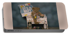 Teddy Bear - Its A Boy Portable Battery Charger