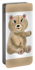 Teddy Bear Watercolor Painting Portable Battery Charger