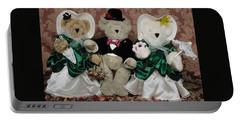 Teddy Bear Wedding Portable Battery Charger