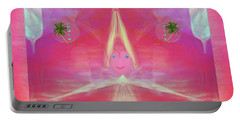 Portable Battery Charger featuring the digital art Tede , Cutsie Little Girl by Sherri Of Palm Springs