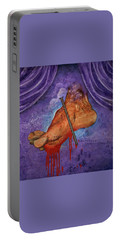 Portable Battery Charger featuring the painting Tedious Journey by Christopher Marion Thomas