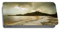 Teds Beach At Dusk Portable Battery Charger