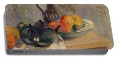 Teiera Brocca E Frutta Portable Battery Charger by Paul Gauguin