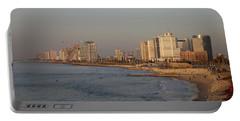 Tel Aviv Coast. Portable Battery Charger by Shlomo Zangilevitch