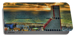 Portable Battery Charger featuring the photograph Tel Aviv Lego by Ron Shoshani