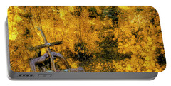 Portable Battery Charger featuring the photograph Telluride Spirituality - Colorado - Autumn Aspens by Jason Politte