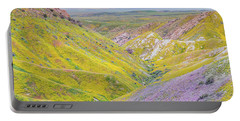 Portable Battery Charger featuring the photograph Temblor Range View To Caliente Range by Marc Crumpler