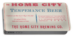 Portable Battery Charger featuring the photograph Temperance Beer Label by Tom Mc Nemar