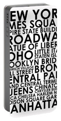 New York Location Names Portable Battery Charger
